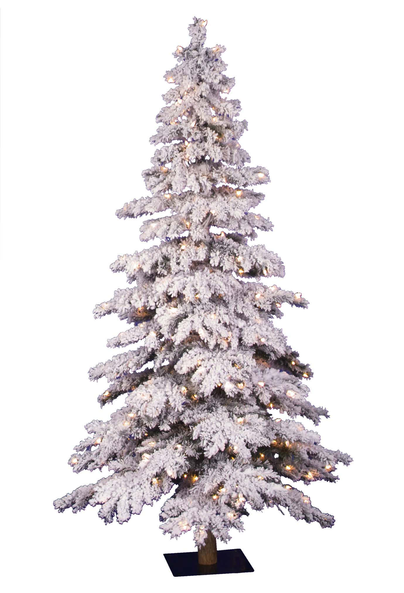 Christmas Tree Market Flocked Spruce